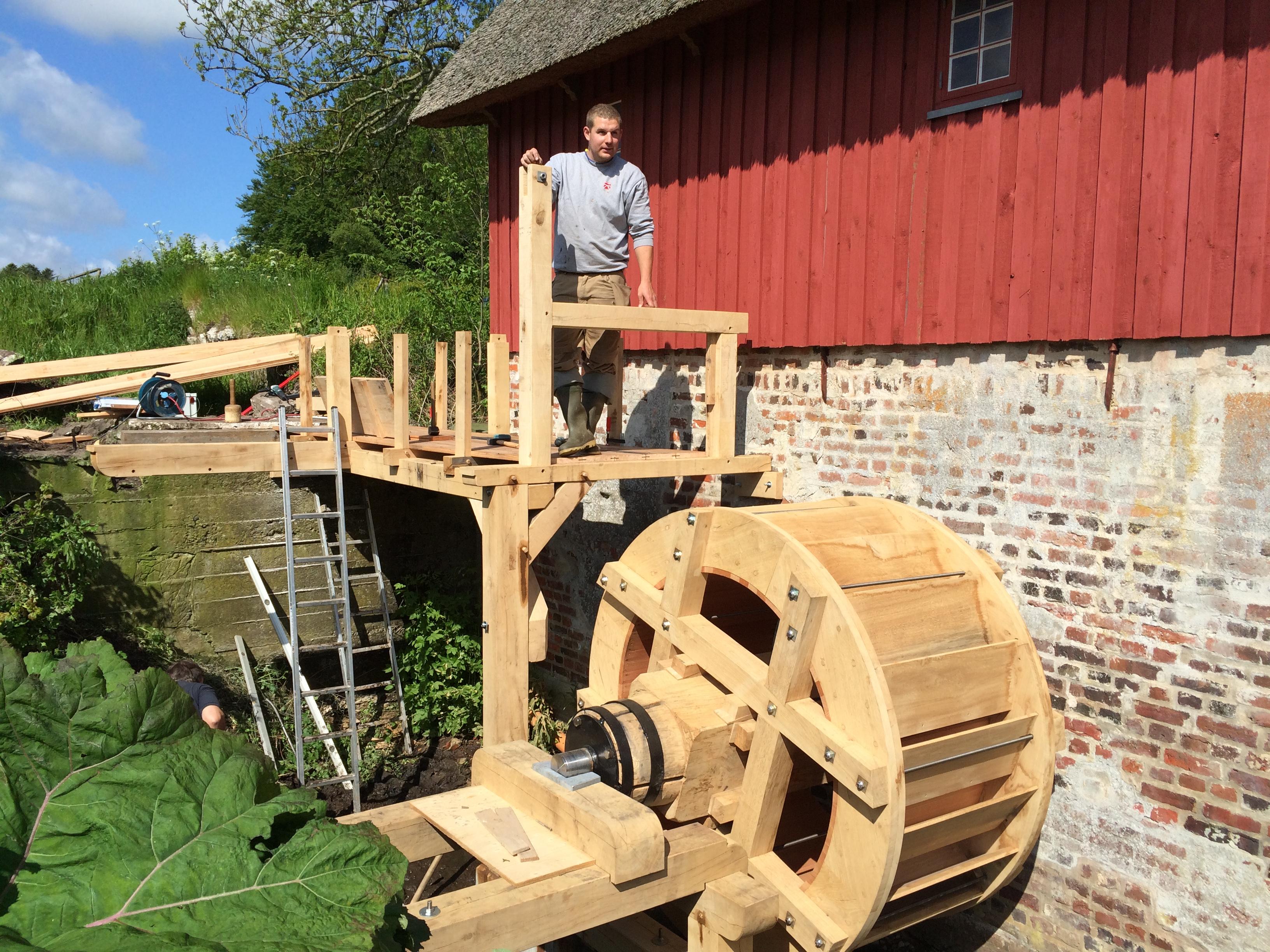 Projektering Klostermølle vandhjul